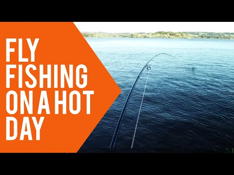 Fly Fishing On A Hot Day At Chew Valley Lake