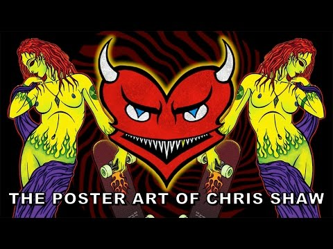 Paper, Ink and Rock and Roll - A History of Posters #3 - The Poster Art of Chris Shaw