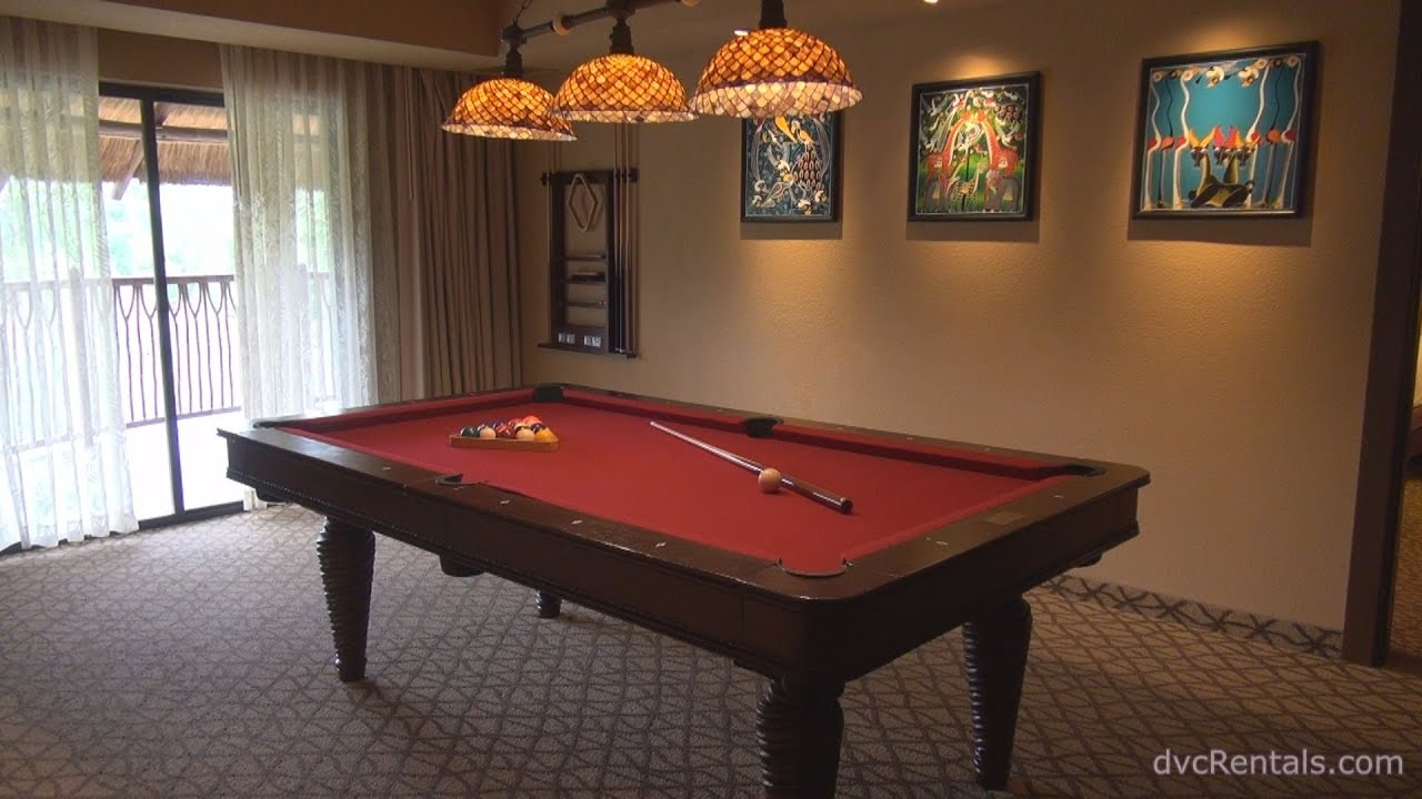 Animal Kingdom Lodge Jambo House Room Tours 3 Bedroom Grand Villa With Game Room Youtube