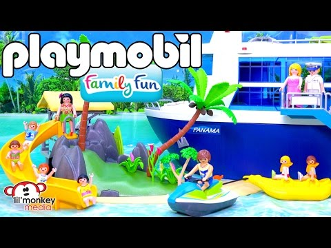 Playmobil Family Fun Collection!  Island Juice Bar, Cruise S