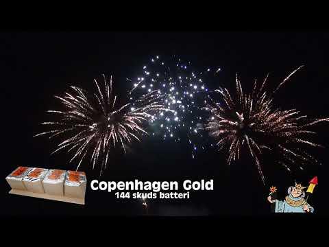 Krudtkongen - Copenhagen Gold 144 skud (Kombinations batteri)