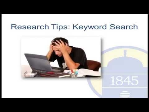 Research Tips: Effective Keyword Search Techniques