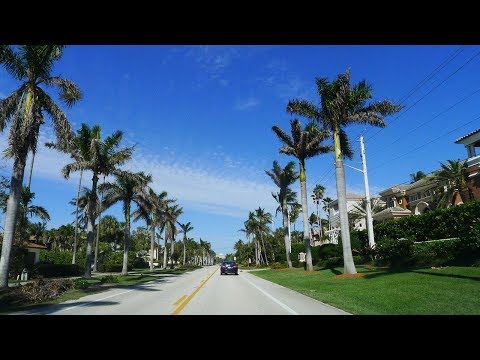 Driving from Fort Lauderdale to Palm Beach, Florida