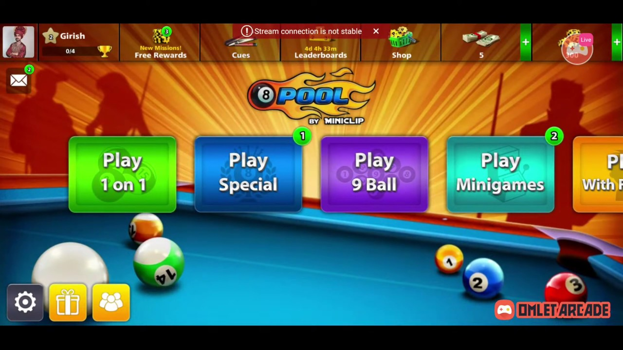 Watch me stream 8 Ball Pool on Omlet Arcade!