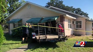Flatbed trailer crashes into Edgewood resident's home, police say