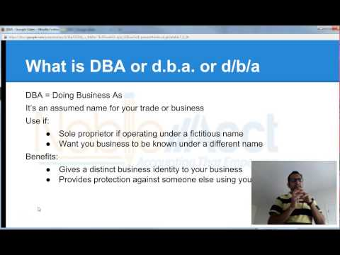 What is a DBA (Doing Business As)