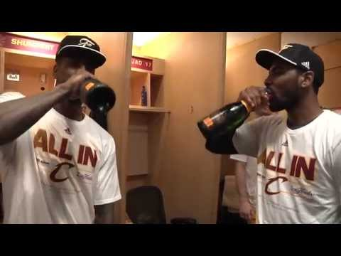 Cleveland Cavs celebrate Eastern Conference finals sweep