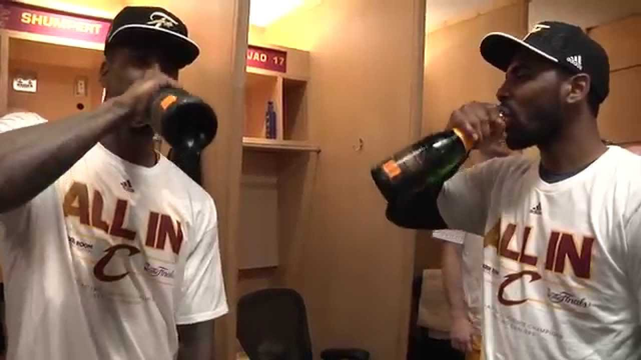 Cleveland Cavs celebrate Eastern Conference finals sweep - YouTube d3c10e154d1