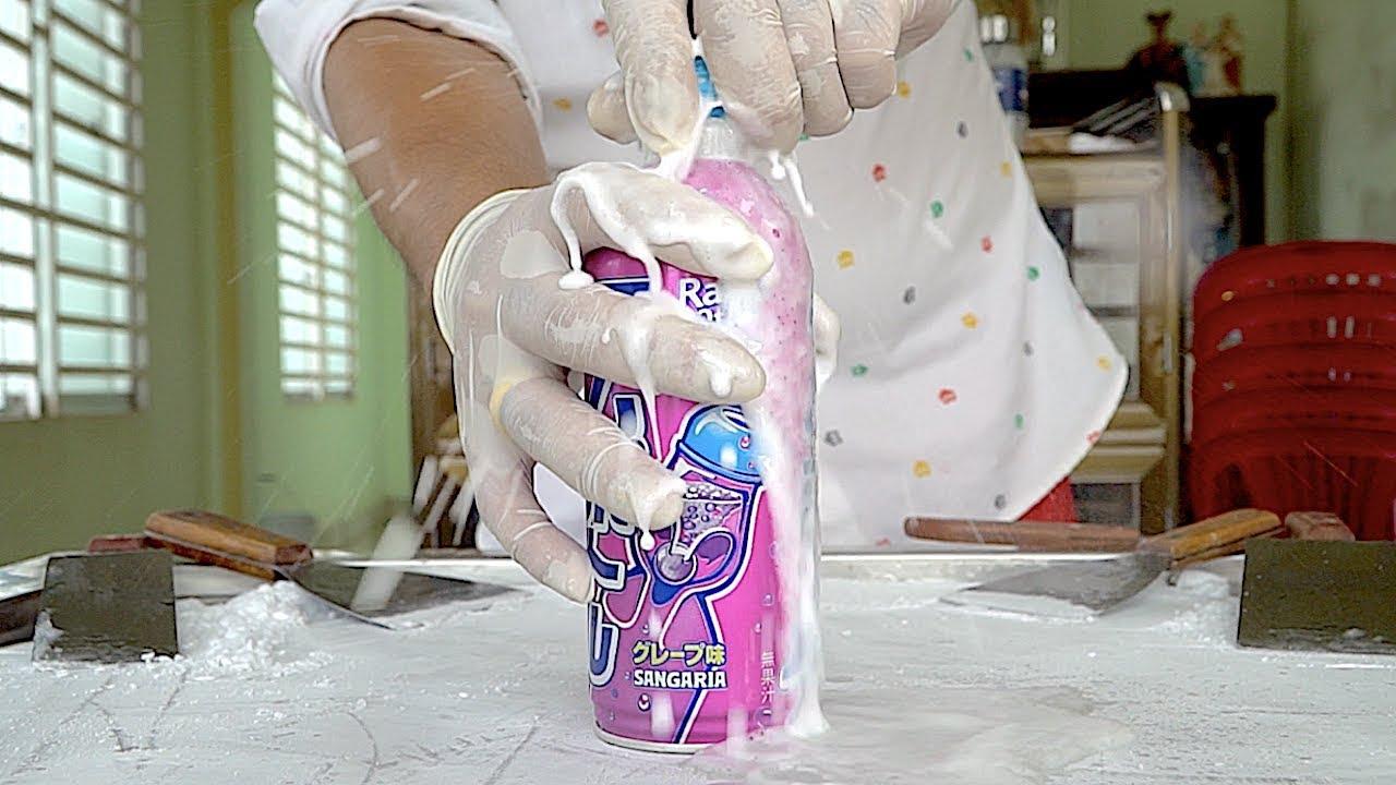 Japanese Grape Soda Ice Cream Rolls