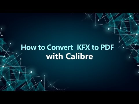 Converting Kindle KFX EBooks To PDF Calibre (How-to)
