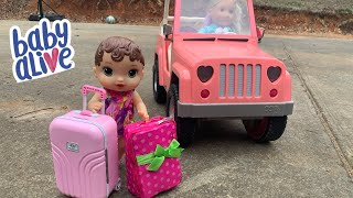 Baby Alive Abby Packing For Vacation ✈️