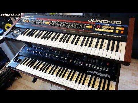 Roland Juno-60 vs. Korg Polysix Analog Synthesizer (1982) battle
