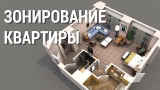 Школа дизайна: Зонирование квартиры. Уроки дизайна интерьера