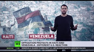 Protests in Haiti, protests in Venezuela, but for Trump & Co. only the latter needs 'democracy'