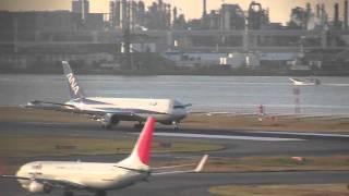 羽田空港RW34L ハミングバード ディパーチャー