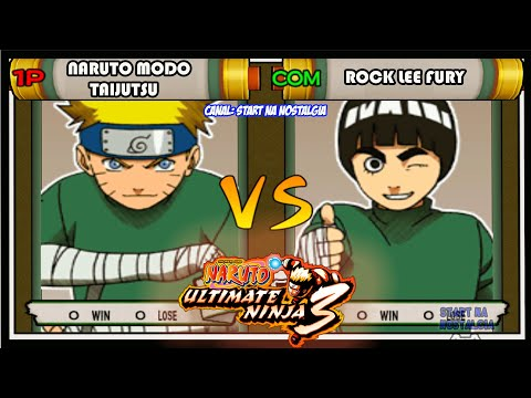 Naruto Ultimate Ninja 3 - PS2 - Naruto Lee Vs Rock Lee - TAIJUTSU
