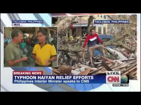 MAR ROXAS, GINISA NG CNN REPORTER SA INTERVIEW ABOUT YOLANDA RELIEF EFFORTS