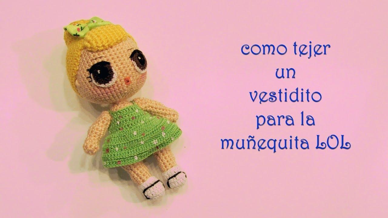 Vestido para muñequita LOL a crochet