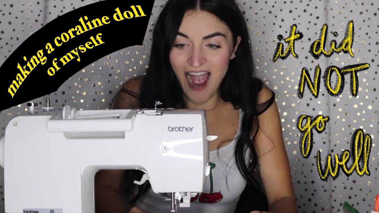I Made A Coraline Doll Of Myself Diy Youtube