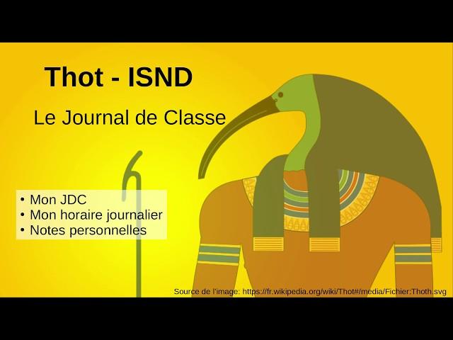 5. Le journal de classe sur la plate-forme Thot