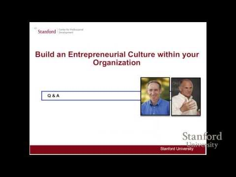 Build an Entrepreneurial Culture within your Organization