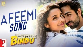 Afeemi Song Karaoke With Lyrics | Meri Pyaari Bindu | Ayushmann | Parineeti | Jigar | Sanah