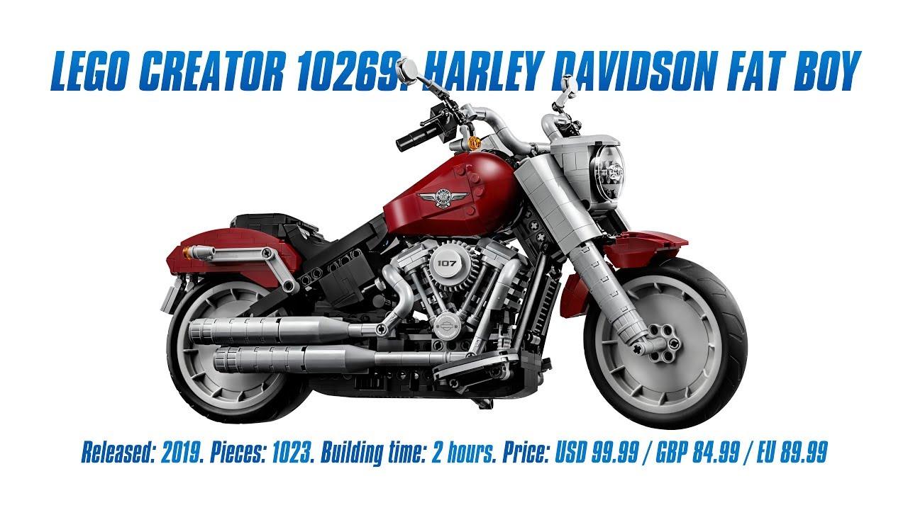 LEGO 10269: Harley Davidson Fat Boy In-depth Review [4K]