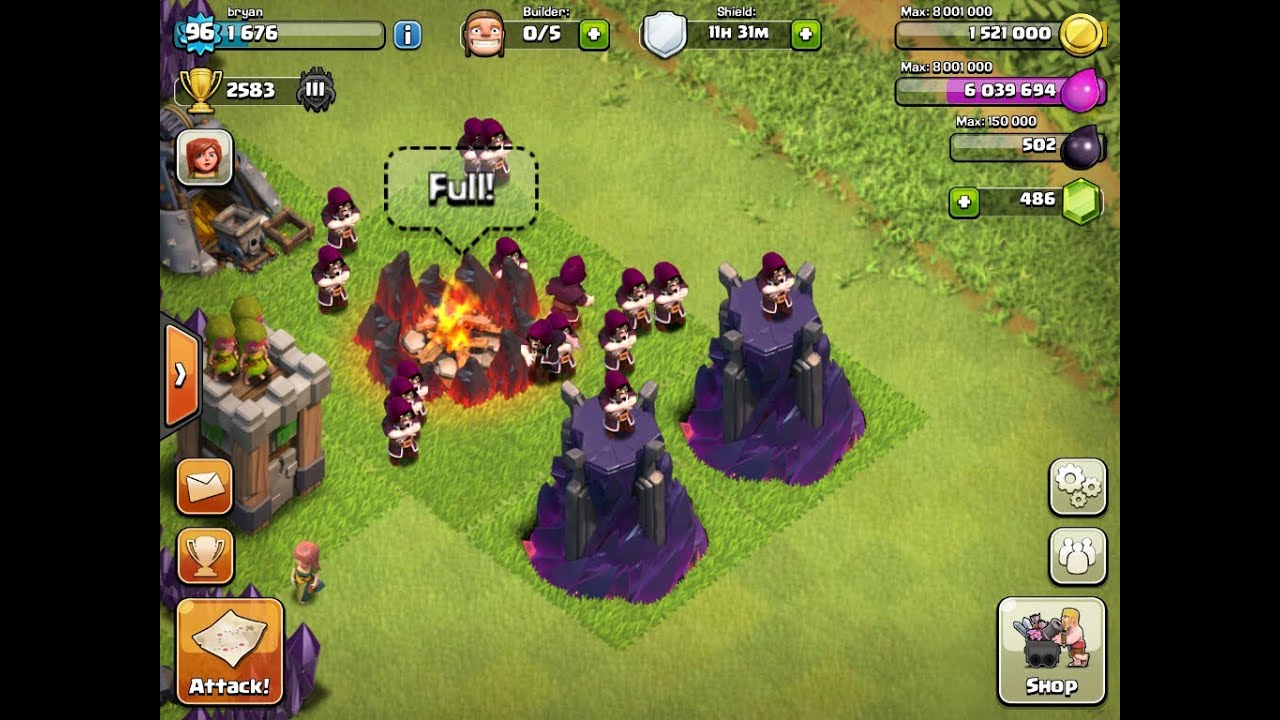 Clash of Clans - Level 8 Wizard Towers + Level 6 Wizards ...