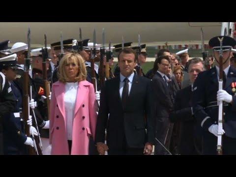 Arrivée d'Emmanuel Macron aux Etats-Unis pour une visite d'Etat