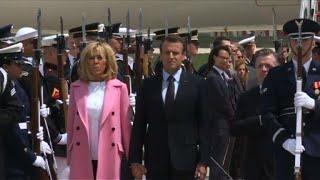 Arrive dEmmanuel Macron aux Etats-Unis pour une visite dEtat