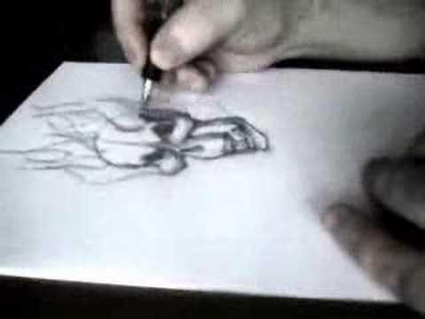 dibujando calavera con llamas  YouTube