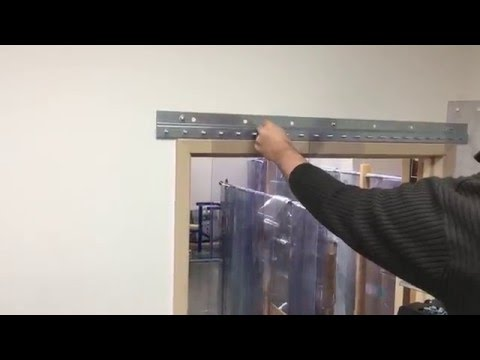 Strip Door Installation Demo