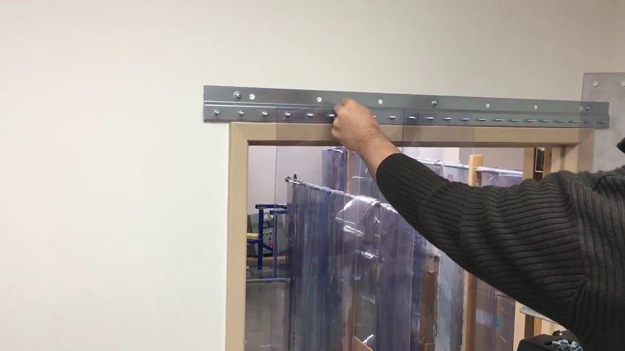 strip door installation demo