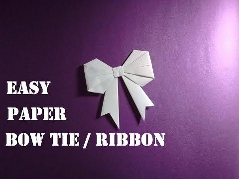 DIY: Easy Paper Bow Tie/ Ribbon