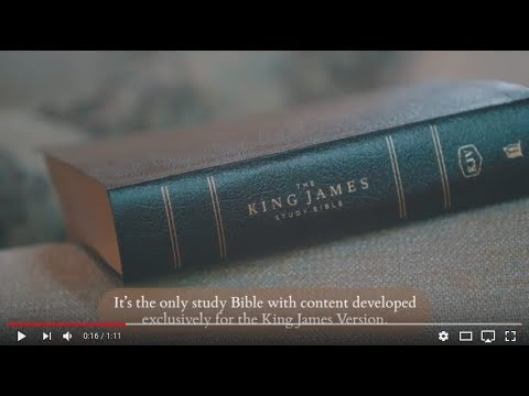 KJV, The King James Study Bible, Full Color Edition - YouTube