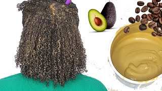 DIY Hair Mask Ep 8 Coffee Avocado For frizzy dry slow growth natural hair