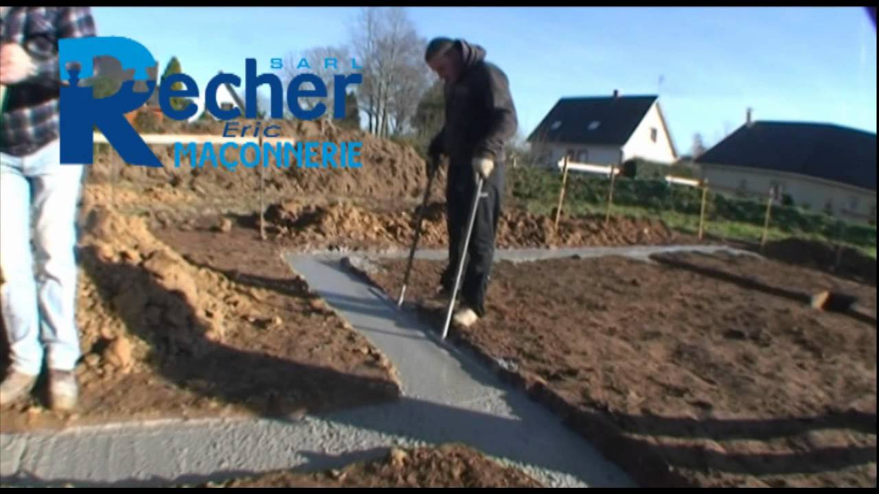 coulage fondation recher ric youtube