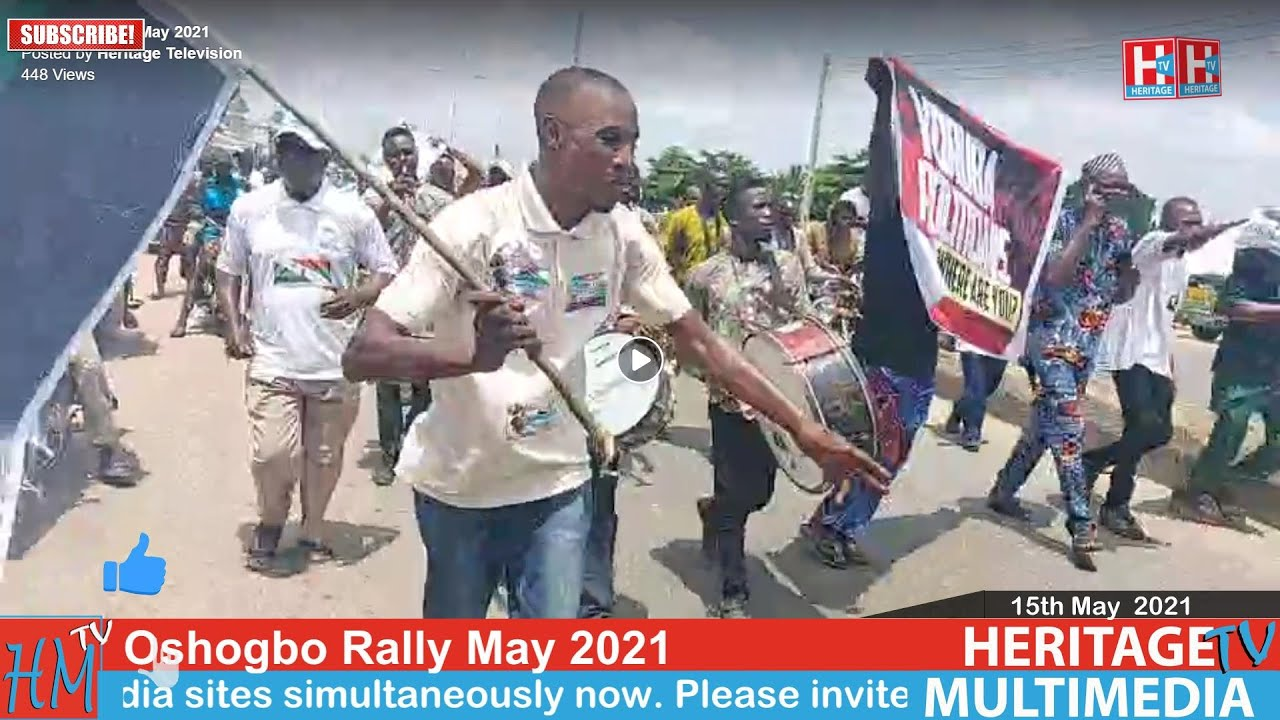 Download Oshogbo Yoruba Nation Rally May 2021. This is Heritage TV Live in Oshogbo 15th May 2021