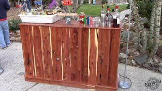 Quick Outdoor Bar for your Summer Parties!