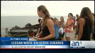 Llegan nueve balseros cubanos a las costas de Key Biscayne