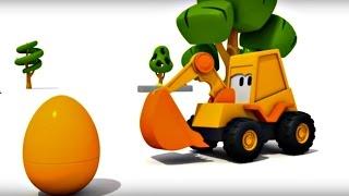 Eğitici çizgi film - Ekskavatör Max - Sürpriz yumurta - Motosiklet