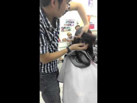 Dạy cắt tóc lá bầu đơn gian.