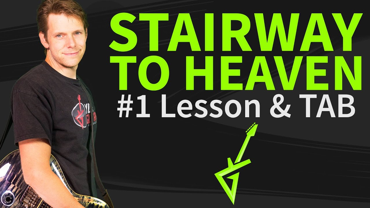 How to play Stairway to heaven Guitar Lesson & TAB #1 Intro by Led Zeppelin