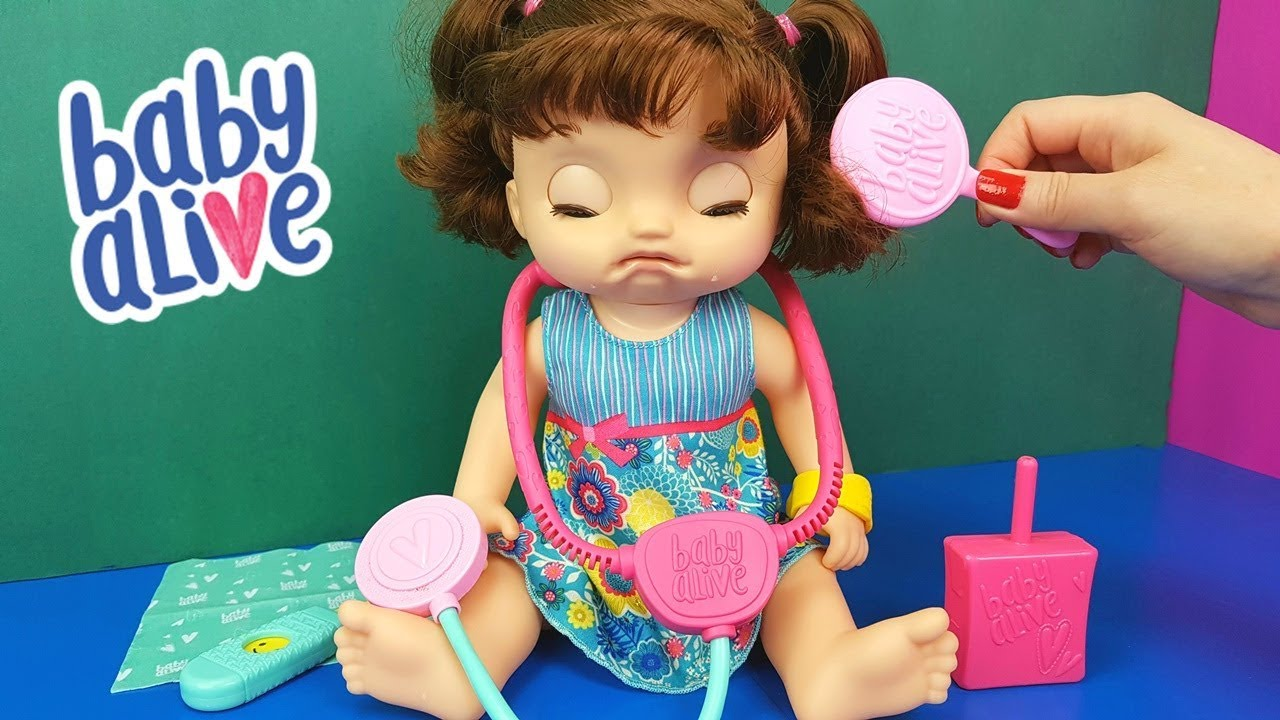 Baby Alive Nina Beb 234 Doces L 225 Grimas Chegou Chora E Fala De