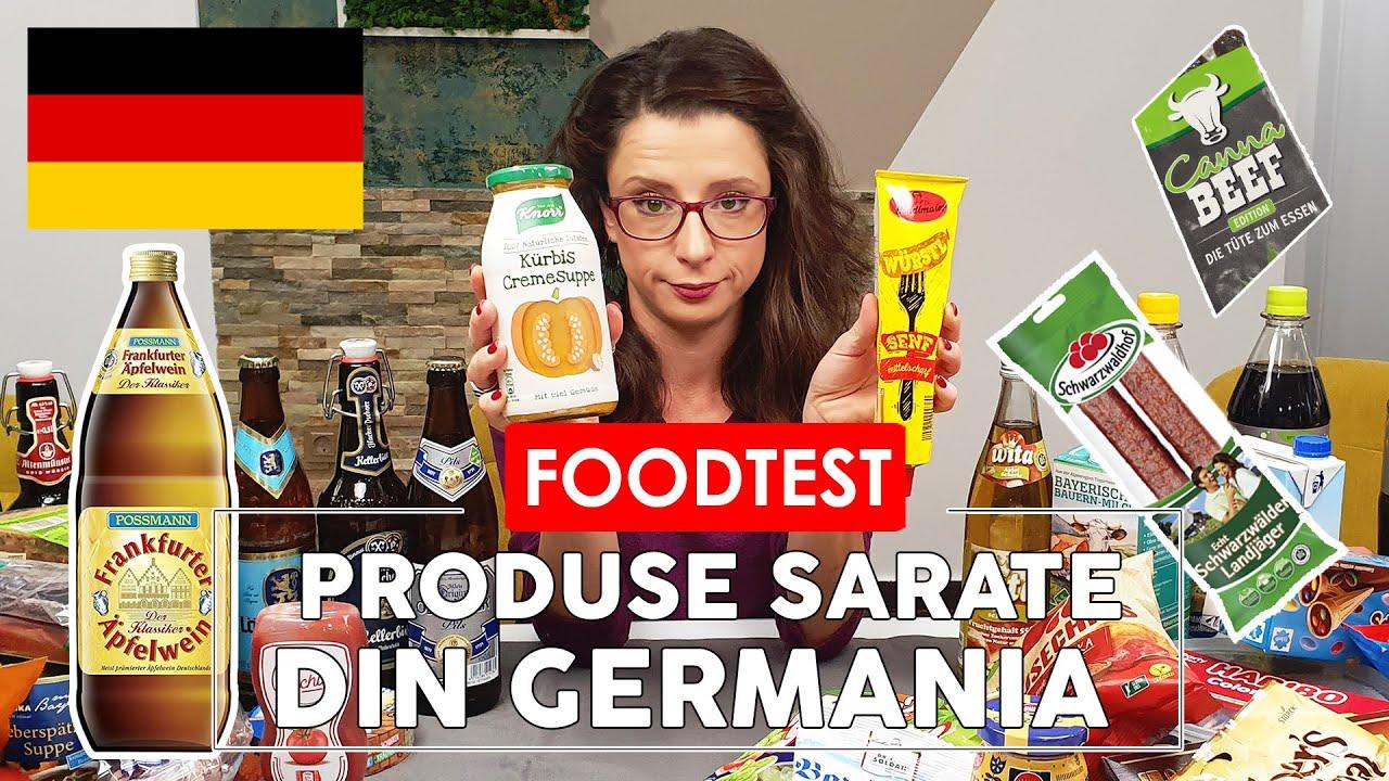 MANANC PRODUSE DIN GERMANIA - Ce alimente am cumparat? - FOOD TEST