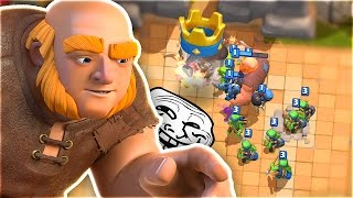 MAKE YOUR ENEMY RAGE QUIT EVERYTIME!! | Arena 2 Noob Trolling in Clash Royale!!
