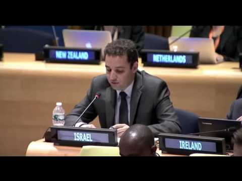 Amit Heumann, Israel's Legal Adviser addresses UN on the Rule of Law