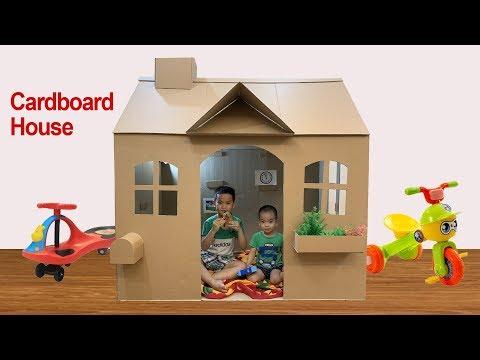 diy-|-how-to-make-a-beautiful-cardboard-house---cardboard-playhouse-for-kids-|-papa-&-baby-mv
