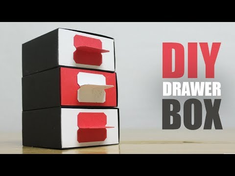 How to make a paper drawer box - DIY Desk Organizer Easy