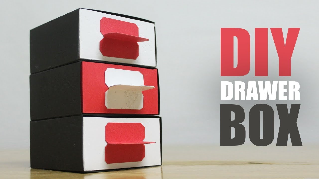 How To Make A Paper Drawer Box Diy Desk Organizer Easy Youtube